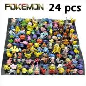 Lots 24 Pcs Pokemon Mini Random Pearl Figures New