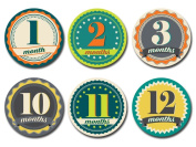Sticky Bellies -Sticky Bellies Monthly Milestone Stickers - Badge Boy 1-12 months