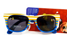Disney Mickey Mouse Sunglasses for Little Boys,blue/orange Stripe