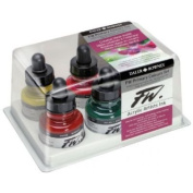 FW FW160100006 Liquid Artists Acrylic Ink 6-Colour Primary Set