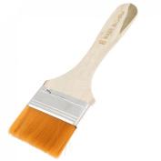 5.1cm Width Orange Bristle Wooden Handle Oil Painting Paint Brush