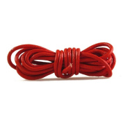 2m Leather Cord Colour Hot Red Size 3x3mm