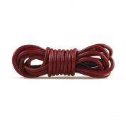 2m Leather Cord Colour Cameo Red Size 3x3mm