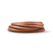 1m Leather Cord Colour Natural Size 4x4mm