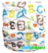 ABC Cloth Nappies Disposable Nappies Cute Alphabet Colourful Print One Size