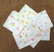 Sunny-business Cartoon Multicolor Baby Nurse Handkerchief Bath Towel Wipe 5 Pcs