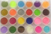 AsiaLifestyle 24 PC Nail Art Glitter Powder Mixcolor DIY Stylish Shining Glitter Paillette Set