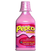 Pepto Bismol Upset Stomach Reliever and Antidiarrheal, Original - 350ml, Pack of 2