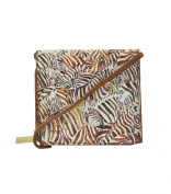 Icon Women's Streamline Leather Square Cross-Body Wallet Bag