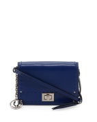 Charles Jourdan Kaila Stitched Leather Crossbody Bag, Indigo