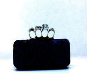 Elegant Skull Knuckle Ring Evening Clutch
