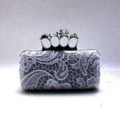 Elegant Skull Knuckle Ring Evening Clutch