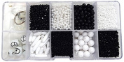 Linpeng Bead Box, Black/White