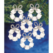 Beadery Holiday Beaded Ornament Kit, 5.7cm , Frosted Wreath, Makes 16 Ornaments