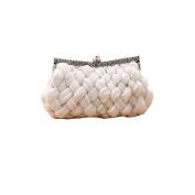 Chic Woven Chiffon Evening Clutch Bag