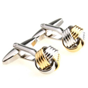 Men's high-grade gold and silver spherical cufflinks cuff nail xk156531