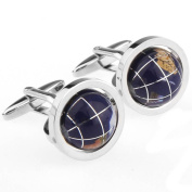 Exquisite multicolor rotating tellurion designed cufflinks cuff nail XK164557