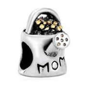Charm Bead Mom Watering Can Pugster Charms Fits Pandora