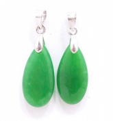 Chinese Both Dark Green Drip-drop Shaped Natural Jade Pendant Listing Stats