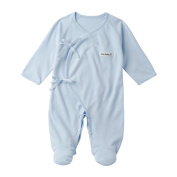 0-12 Months Baby 70% Bamboo 30% Cotton Plain Knitted Baby Overall Jump Suit (52 (0-6months)