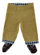 Tucker'd Tan Corduroy Infant Pants w/Attached Brown Socks 0-3mth