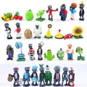 Pvz Plants Vs Zombies Figures Plants And Zombies Pvc Action Figures Collection Model Toys Dolls 24pcs/lot Anpz014
