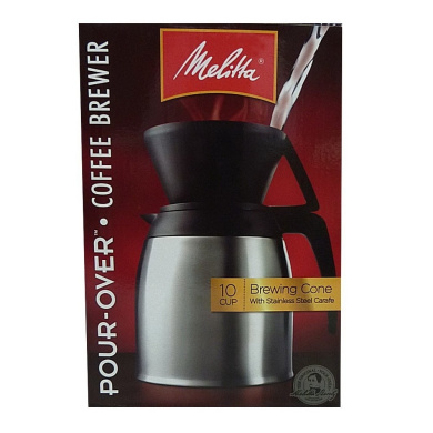 Melitta Coffee Maker 6 Cup Pour Over Brewer : Melitta Coffee Maker, 10 Cup Pour- Over Brewer with Stainless Thermal Carafe by Melitta - Shop ...