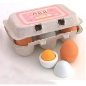 6pcs Wooden Eggs Yolk Pretend Play Kitchen Game Food Cooking Children Kid Toys
