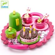Mother Garden Children Kitchen Toys Set Strawberry Tea Set Wooden Toy Best Children Gift