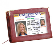 Zip Up Security I.D. Credit Card Case Wallet