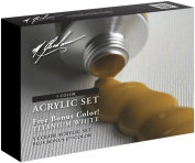 M. Graham 6-Colour Acrylic Paint Primary Bonus Set, 60ml Tube