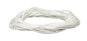 Lehigh NML48Inch X 0.3cm by 15m Diamond Braid Nylon Rope, White