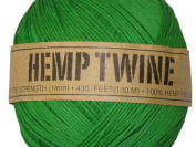 Hemp Twine Green 20# 1mm 430Ft 130m