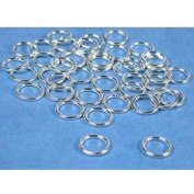 40 Sterling Silver Jump Rings Closed Jewellery 18 Gauge 8mm