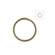 About 315pcs Zacoo Open Jump Rings Shape Round Colour Antique Brass 10x10x0.7 Outside Diameter 10mm