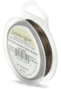 Artistic Wire, Copper Craft Wire 26 Gauge Thick, 30 Yard Spool, Antiqued Brass