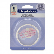 Beadalon Square Silver Plated 20-Gauge Wire, 2-Metres