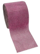 Pink Diamond Rhinestone Mesh Ribbon, Wedding Ribbon, Nappy Cake Ribbon, 12cm x 10 Yards, 24 Row, 1 Roll