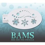 Bad Ass Snowy Mini Stencil BAM1038