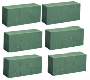 Aquafoam Instant Standard Brick Wet Floral Foam, Pack of 6