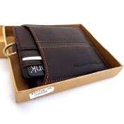 Men Money Natural Genuine Leather Slim Wallet Coin Window Removable Pocket Purse Retro Style.