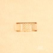 "Basketweave Leather Stamp Tool 66502-10 Impression Size 7/16"" L"