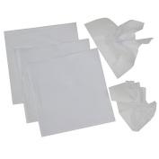 Whtie Pomps Tissue Squares