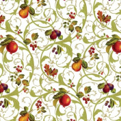 Caspari Florentine Fruits-Cs13 Continuous Gift Wrapping Paper Roll, 2.4m