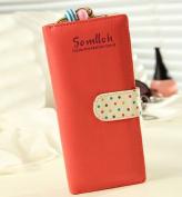 Amjimshop 2014 Hot Sell Elegant Lady Women Long Purse Clutch Wallet Zip Bag Card Holder Red