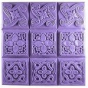 Brocade Tray Soap Mould