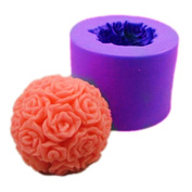 Longzang Ball Rose S0245 Silicone Candle moulds Soap mould Craft Moulds DIY