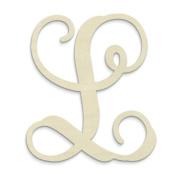 """UNFINISHEDWOODCO Single Vine Monogram Unfinished Letter, 50cm , Letter """"L"""""""