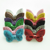 Cloris Boutique Bling Sequine Bows for DIY Headbands Clips Assorted Colours