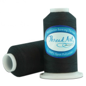 Polyester Sewing Thread - 600m - Colour 102 - BLACK - 80 Colours Available - Threadart